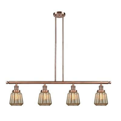 Vinson 4-Light Kitchen Island Pendant Finish: Antique Copper