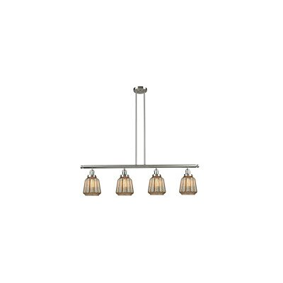 Vinson 4-Light Kitchen Island Pendant Finish: Brushed Satin Nickel
