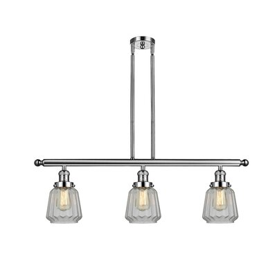 Vinson 3-Light Kitchen Island Pendant Finish: Polished Nickel