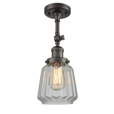 Vinson 1-Light Semi Flush Mount Fixture Finish: Oil Rubbed Bronze