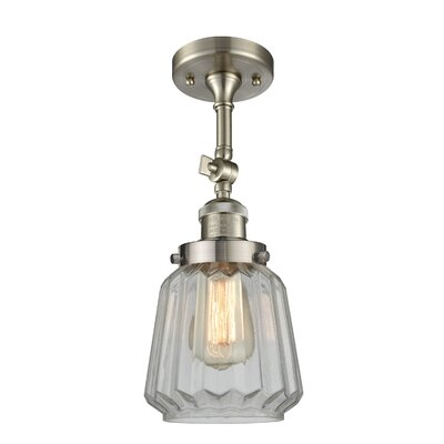 Vinson 1-Light Semi Flush Mount Fixture Finish: Brushed Satin Nickel