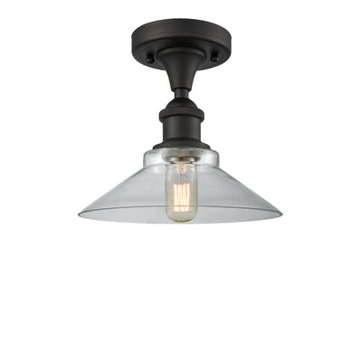 Naya 1-Light Semi Flush Mount Fixture Finish: Oiled Rubbed Bronze