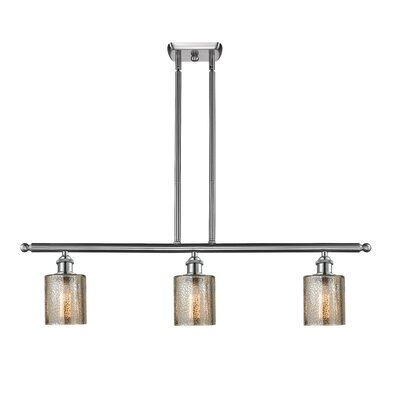 Inglestone Common 3-Light Kitchen Island Pendant Finish: Brushed Satin Nickel