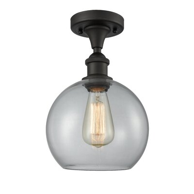 Garduno 1-Light Semi Flush Mount Fixture Finish: Oil Rubbed Bronze