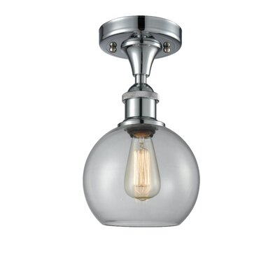 Garduno 1-Light Semi Flush Mount Fixture Finish: Polished Chrome