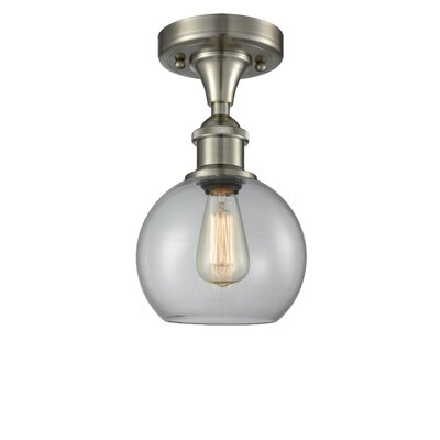 Garduno 1-Light Semi Flush Mount Fixture Finish: Brushed Satin Nickel