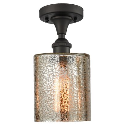 Inglestone Common 1-Light Semi Flush Mount Fixture Finish: Oil Rubbed Bronze