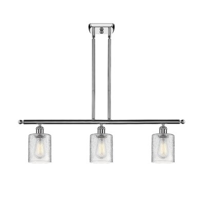 Inglestone Common 3-Light Kitchen Island Pendant Finish: Polished Chrome