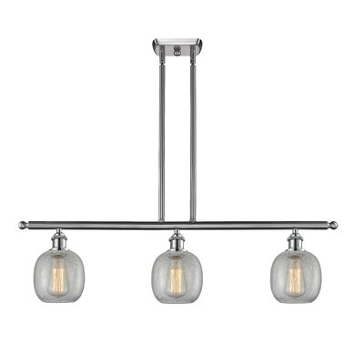 Raye 3-Light Kitchen Island Pendant Finish: Brushed Satin Nickel
