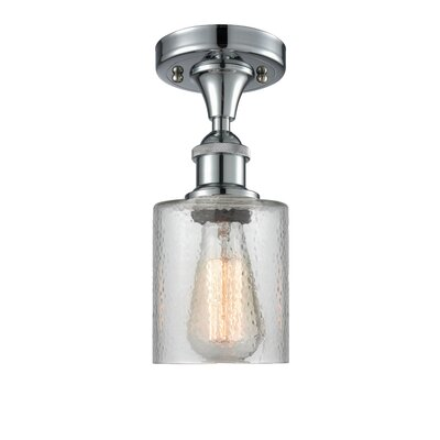 Inglestone Common 1-Light Semi Flush Mount Fixture Finish: Polished Chrome