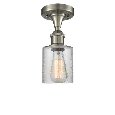 Inglestone Common 1-Light Semi Flush Mount Fixture Finish: Brushed Satin Nickel