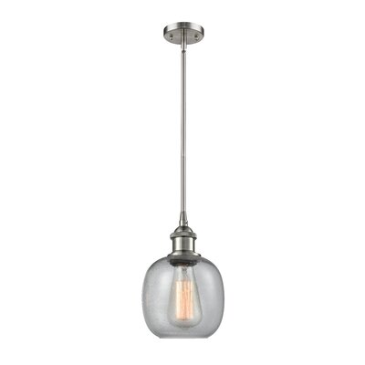 Raye 1-Light Mini Pendant Finish: Brushed Satin Nickel
