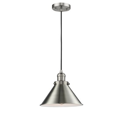 Stonecrest 1-Light Mini Pendant Finish: Brushed Satin Nickel