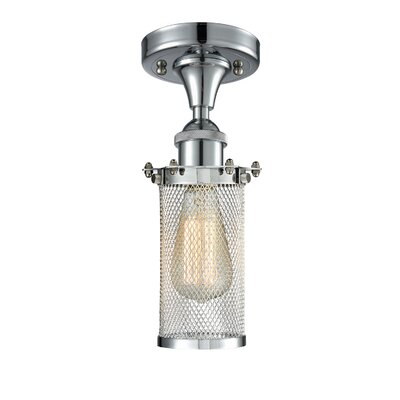 Amell 1-Light Semi Flush Mount Fixture Finish: Polished Chrome