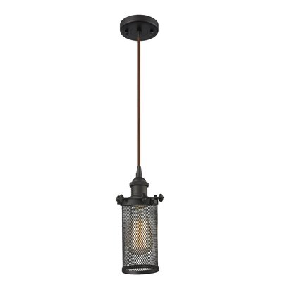 Amell 1-Light Mini Pendant Finish: Oiled Rubbed Bronze, Size: 40 H x 6 W x 6 D