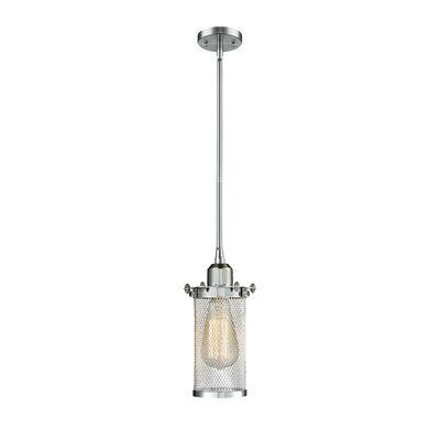Amell 1-Light Mini Pendant Finish: Polished Chrome, Size: 130 H x 6 W x 6 D