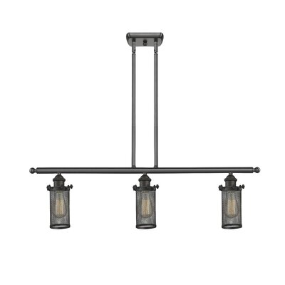 Amell 3-Light Kitchen Island Pendant Finish: Oil Rubbed Bronze, Size: 11 H x 3.5 W x 3.5 D
