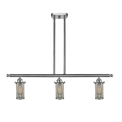 Amell 3-Light Kitchen Island Pendant Finish: Brushed Satin Nickel, Size: 11 H x 3.5 W x 3.5 D