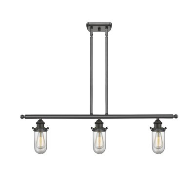 Scarlette 3-Light Kitchen Island Pendant Finish: Oiled Rubbed Bronze, Shade Color: Clear