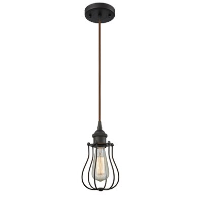 Amett 1-Light Mini Pendant Finish: Oil Rubbed Bronze