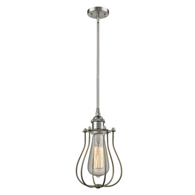Amett 1-Light Mini Pendant Finish: Brushed Satin Nickel