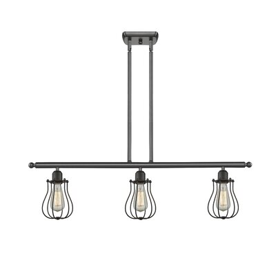 Amett 3-Light Kitchen Island Pendant Finish: Oil Rubbed Bronze
