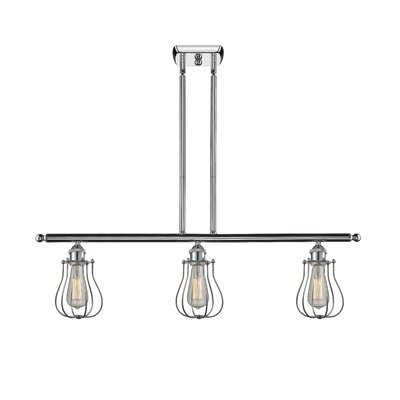 Amett 3-Light Kitchen Island Pendant Finish: Polished Chrome