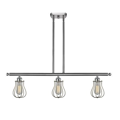 Amett 3-Light Kitchen Island Pendant Finish: Brushed Satin Nickel