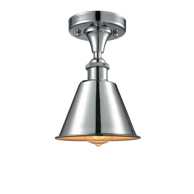 Nakayama 1-Light Semi Flush Mount Fixture Color: Polished Chrome