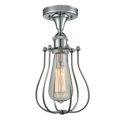 Scarlette 1-Light Semi Flush Mount Fixture Finish: Polished Chrome