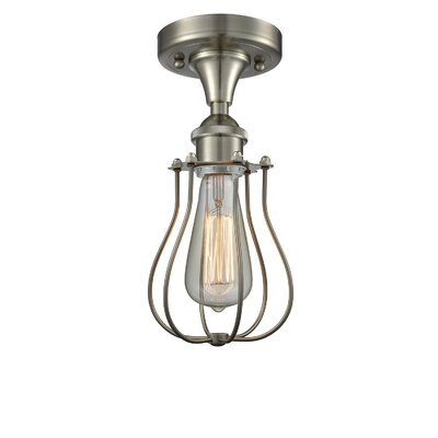 Scarlette 1-Light Semi Flush Mount Fixture Finish: Brushed Satin Nickel