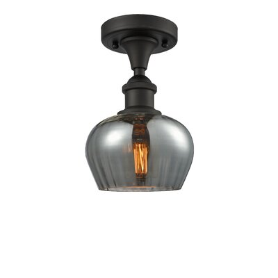 Dooling 1-Light Semi Flush Mount Fixture Finish: Oiled Rubbed Bronze