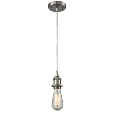 Briele 1-Light Mini Pendant Finish: Brushed Satin Nickel