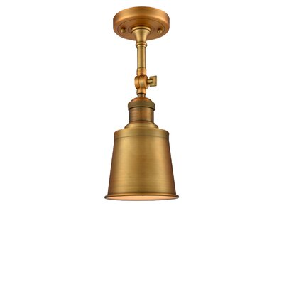 Carn 1-Light Semi Flush Mount Fixture Finish: Brushed Brass