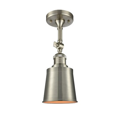 Carn 1-Light Semi Flush Mount Fixture Finish: Brushed Satin Nickel