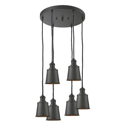 Carn 6-Light Cluster Pendant Finish: Oiled Rubbed Bronze