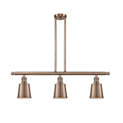 Carn 3-Light Kitchen Island Pendant Finish: Antique Copper