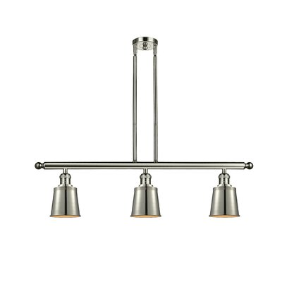Carn 3-Light Kitchen Island Pendant Finish: Polished Nickel