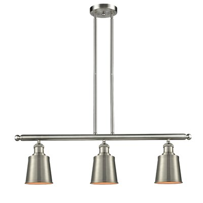 Carn 3-Light Kitchen Island Pendant Finish: Brushed Satin Nickel