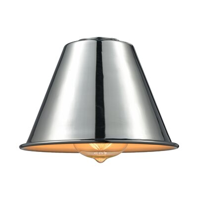 7 Metal Empire Pendant Shade Finish: Polished Chrome