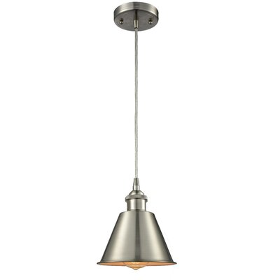 Harlan 1-Light Mini Pendant Finish: Brushed Satin Nickel
