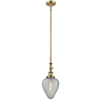 Bontrager 1-Light Mini Pendant Finish: Brushed Brass