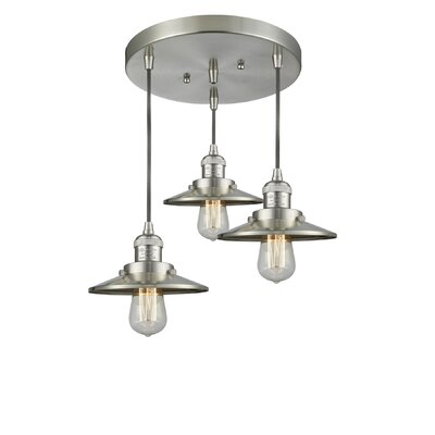 Railroad 3-Light Kitchen Island Pendant