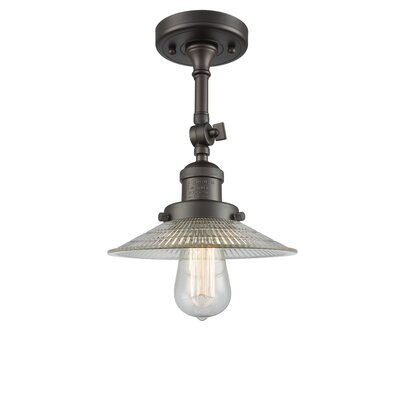 Halophane 1-Light Semi Flush Mount Finish: Oil Rubbed Bronze