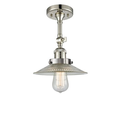 Halophane 1-Light Semi Flush Mount Finish: Polished Nickel