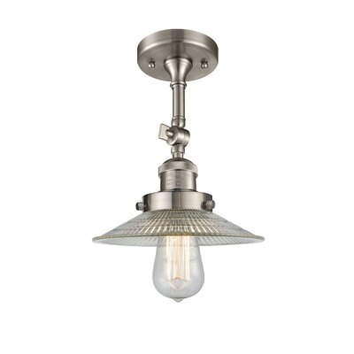 Halophane 1-Light Semi Flush Mount Finish: Brushed Satin Nickel