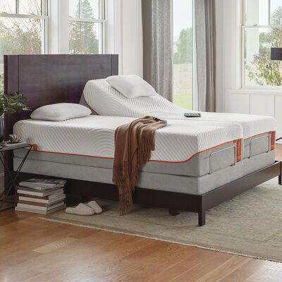 TEMPUR-Ergo Adjustable Bed Size: Twin, Finish: Gray