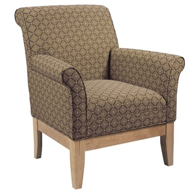 Armchair Color: Chocolate, Color: Medium Lanty Oak