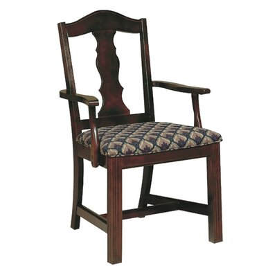 Arm Chair Upholstery: Chocolate, Finish: Kennsington Maple