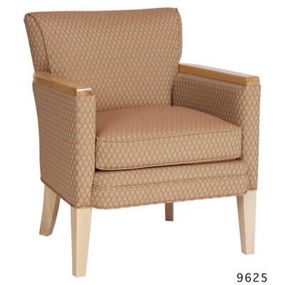 Armchair Color: Orange, Color: Kennsington Maple